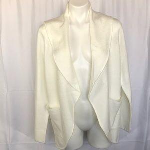 Loft White Size Medium open front cardigan